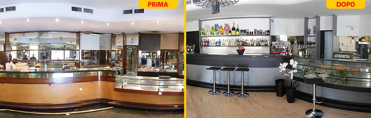 Allestimento e decorazioni locali in modo innovativo - Bancone bar casa ...