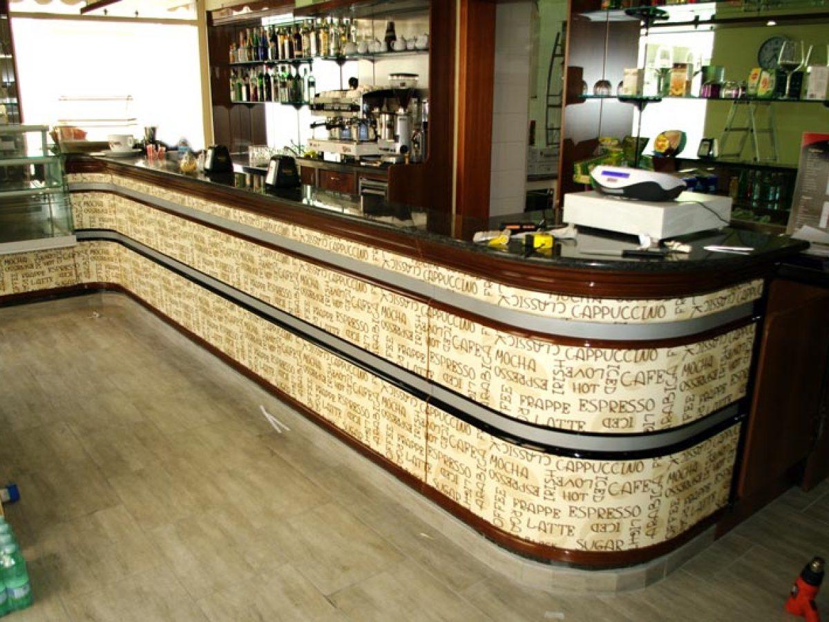 Bancone Bar Per Casa come rivestire un bancone bar anche con il fai da te