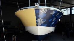 Boat wrapping prima e dopo la decorazione