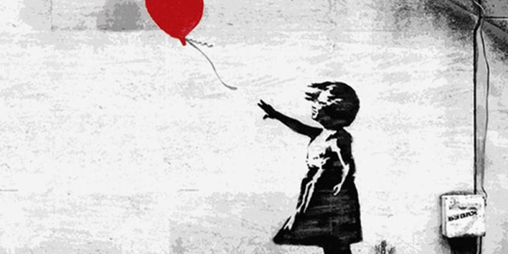 Banksy: la bambina con il palloncino rosso si autodistrugge